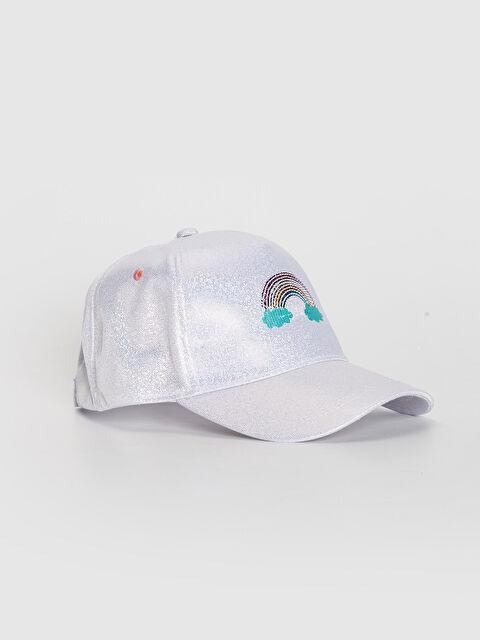 Kız Çocuk Nakış Detaylı Hologram Şapka - LC WAIKIKI