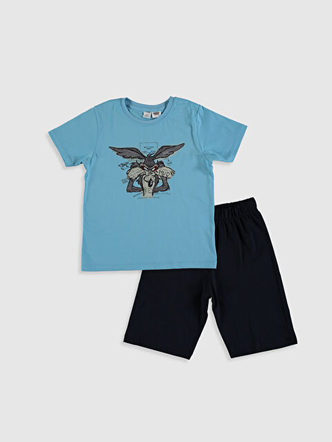 Erkek Çocuk Aile Koleksiyonu Coyote Baskılı Pijama Takımı - LC WAIKIKI