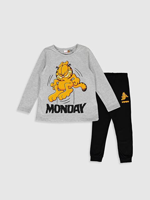 Kız Çocuk Garfield Baskılı Pijama Takımı - LC WAIKIKI