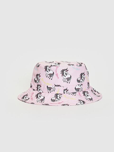 Kız Çocuk Unicorn Baskılı Bucket Şapka - LC WAIKIKI