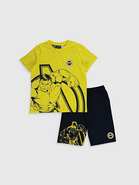 Erkek Çocuk Fenerbahçe Baskılı Tişört ve Şort - LC WAIKIKI