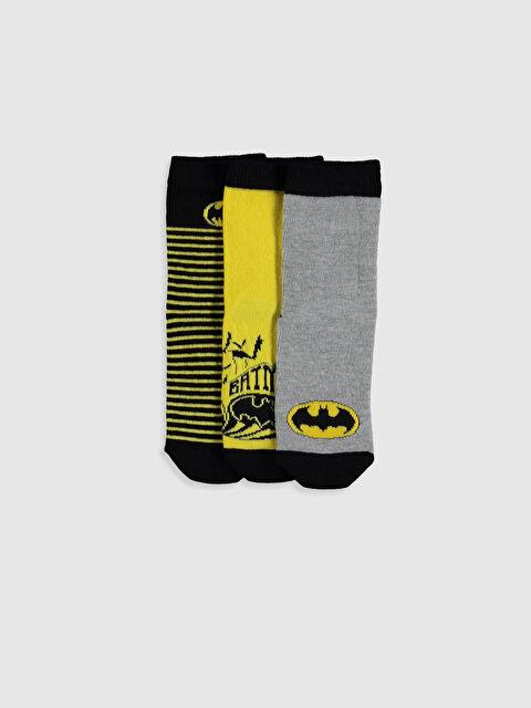 Erkek Çocuk Batman Soket Çorap 3'lü - LC WAIKIKI