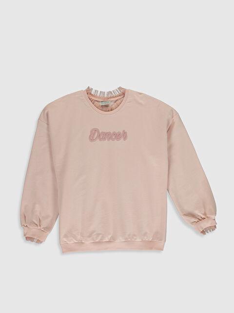 Kız Çocuk Nakışlı Sweatshirt - LC WAIKIKI
