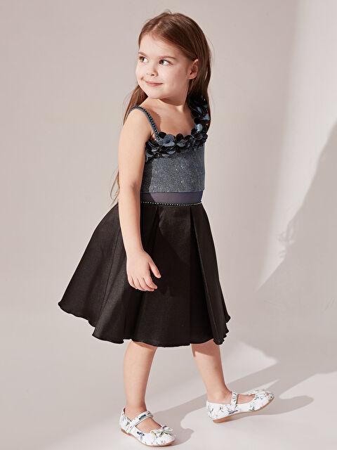 Daisy Girl Kız Çocuk Omuz Detaylı Abiye Elbise - Markalar