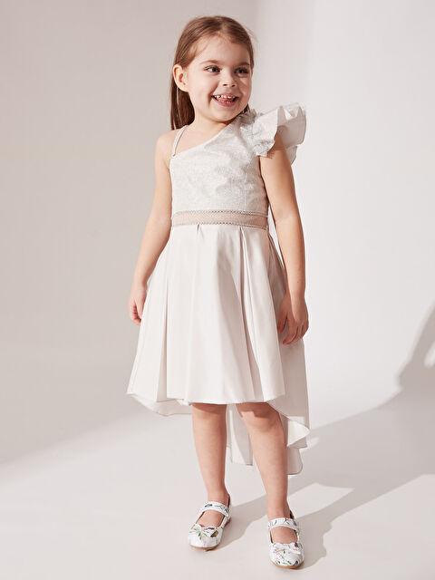 Daisy Girl Kız Çocuk Omuz Detaylı Kuyruklu Abiye Elbise - Markalar