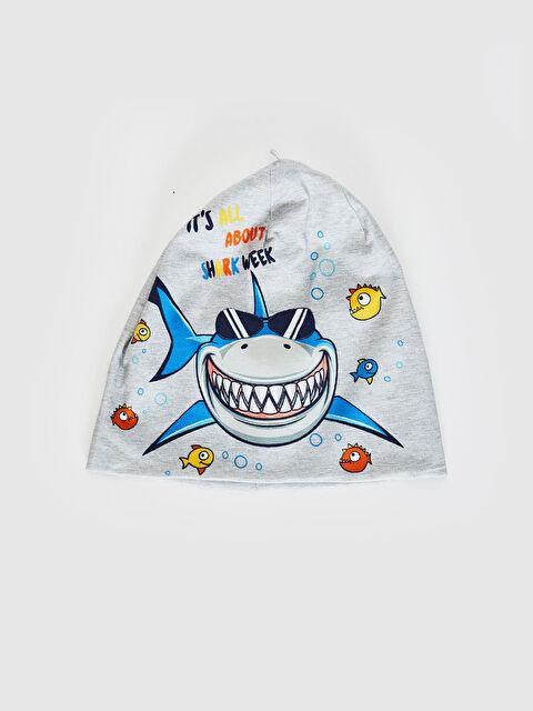 Erkek Çocuk Köpek Balığı Baskılı Triko Bere - LC WAIKIKI
