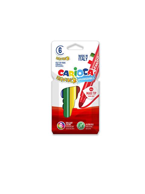 CARİOCA Bravo Süper Yıkanabilir Keçeli Boya Kalemi 6'Lı - Markalar