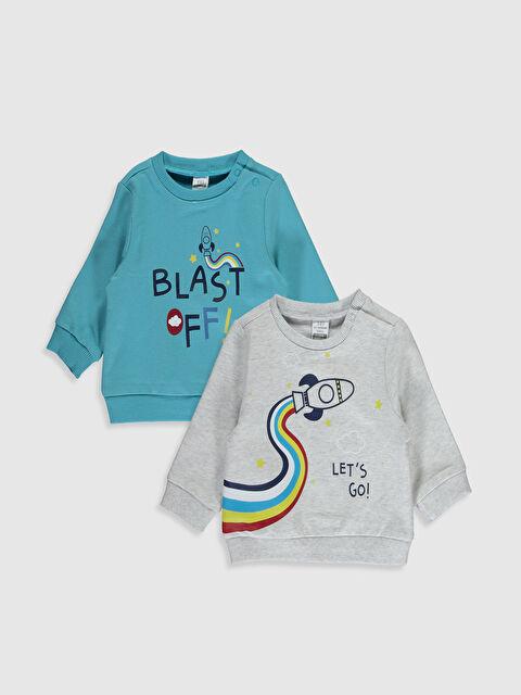 Erkek Bebek Baskılı Sweatshirt 2'li - LC WAIKIKI