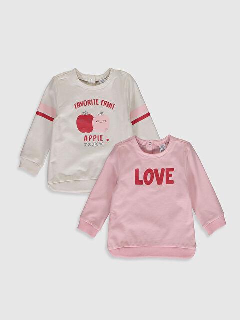 Kız Bebek Baskılı Sweatshirt 2'li - LC WAIKIKI