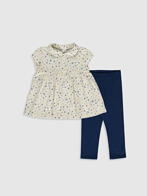 Kız Bebek Desenli Tişört ve Tayt - LC WAIKIKI