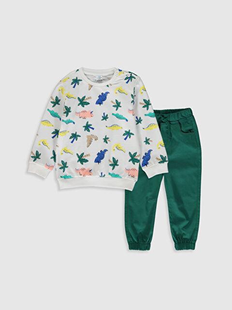 Erkek Bebek Baskılı Sweatshirt ve Pantolon - LC WAIKIKI