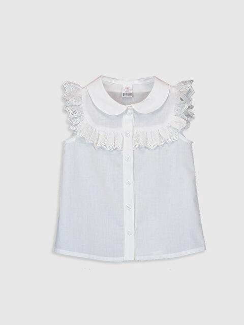 Kız Bebek Fırfırlı Poplin  Gömlek - LC WAIKIKI