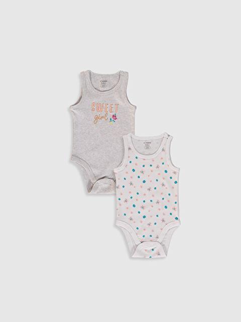 Kız Bebek Baskılı Çıtçıtlı Body 2'li - LC WAIKIKI