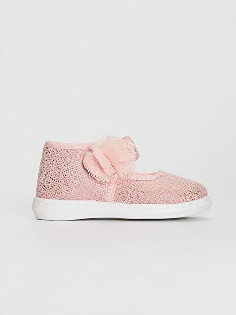 Kız Bebek Çiçek Detaylı Bez Babet Ayakkabı - LC WAIKIKI