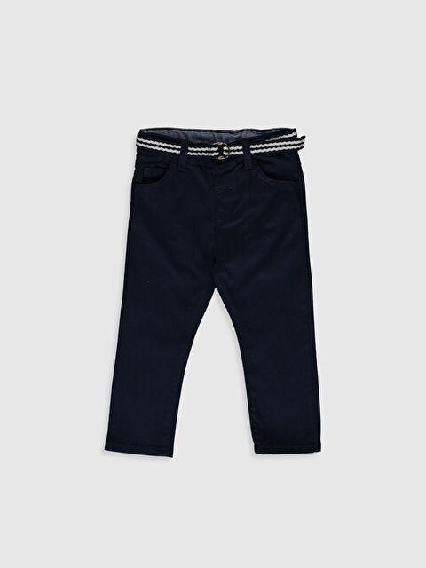 Erkek Bebek Slım Fıt Gabardin Pantolon ve Kemer - LC WAIKIKI