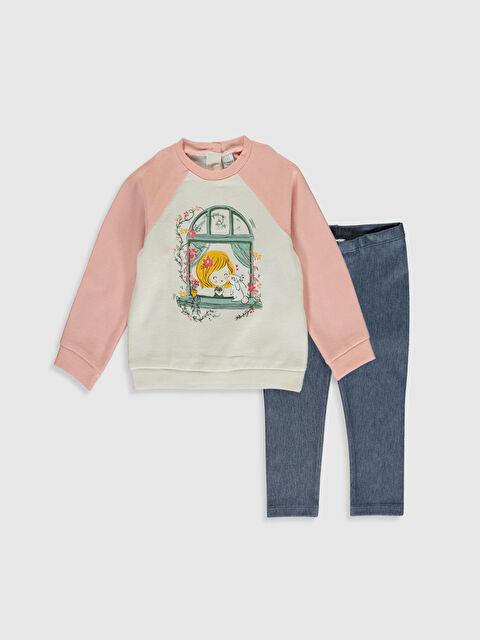 Kız Bebek Sweatshirt ve Tayt Takım - LC WAIKIKI