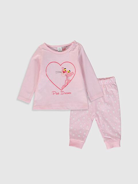 Kız Bebek Pembe Panter Baskılı Pijama Takımı - LC WAIKIKI