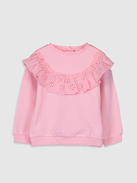 Kız Bebek Dantelli Sweatshirt - LC WAIKIKI