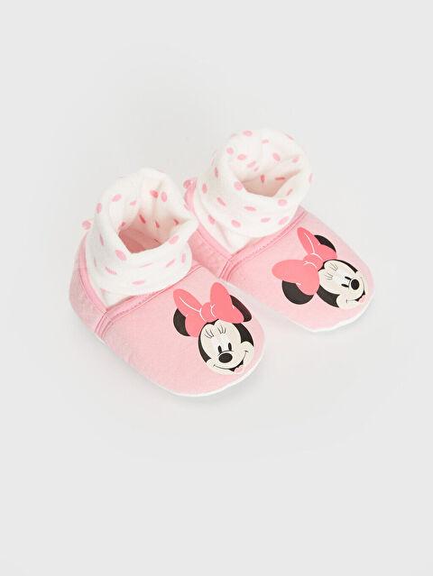 Kız Bebek Minnie Mouse Lisanslı Çoraplı Yürüme Öncesi Ayakkabı - LC WAIKIKI