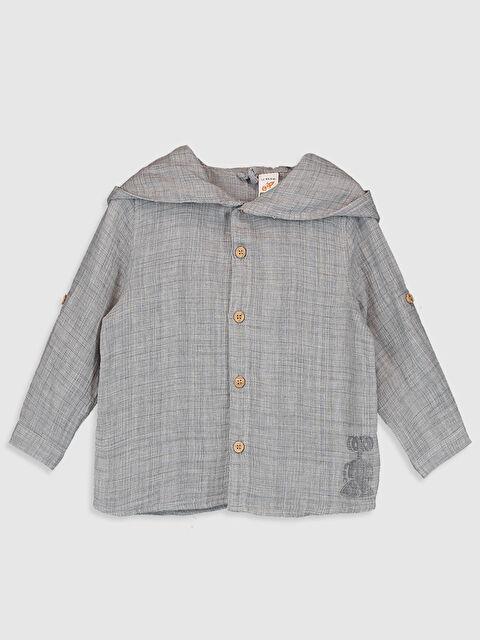 Erkek Bebek Pamuklu Kapüşonlu Gömlek - LC WAIKIKI