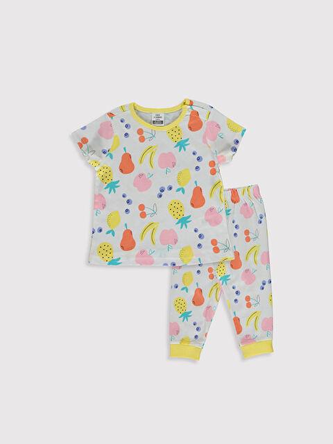 Kız Bebek Baskılı Pamuklu Pijama Takımı - LC WAIKIKI