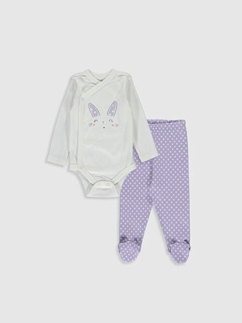 Kız Bebek Çıtçıt Body ve Patikli Pantolon - LC WAIKIKI