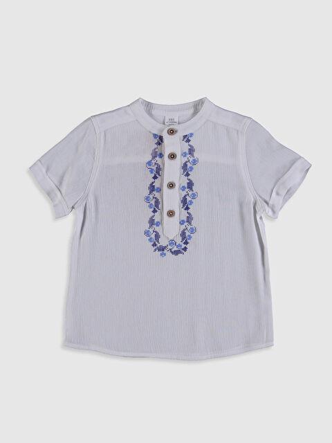Erkek Bebek Baskılı Viskon Gömlek - LC WAIKIKI