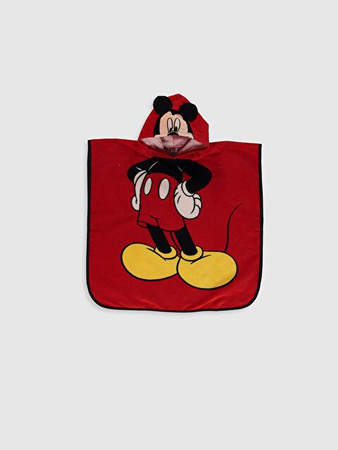 Erkek Bebek Mickey Mouse Baskılı Bornoz Panço - LC WAIKIKI