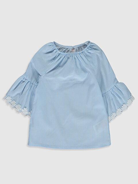 Kız Bebek Çizgili Poplin Bluz - LC WAIKIKI