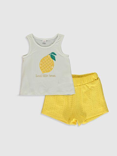 Kız Bebek Baskılı Tişört ve Şort - LC WAIKIKI