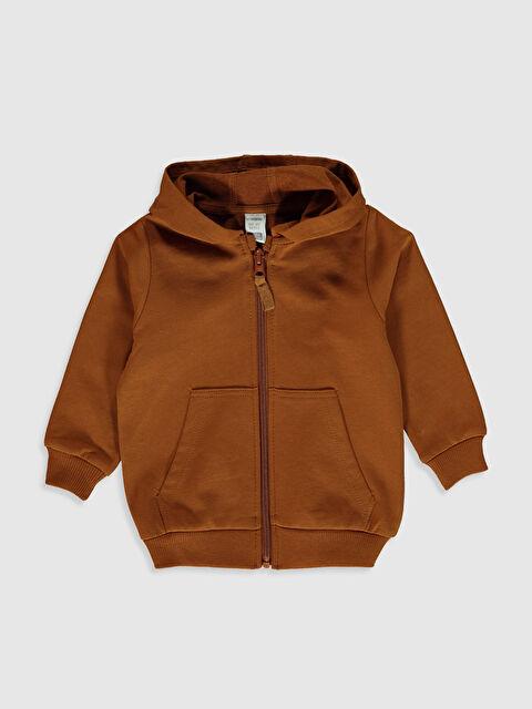 Erkek Bebek Kapüşonlu Fermuarlı Sweatshirt - LC WAIKIKI