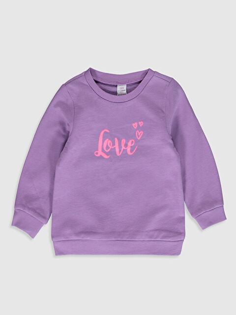 Kız Bebek Baskılı Sweatshirt - LC WAIKIKI