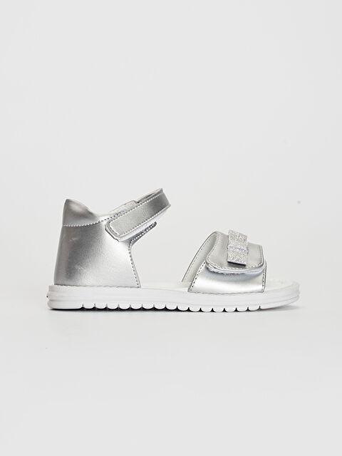 Kız Bebek Fiyonk Detaylı Cırt Cırtlı Sandalet - LC WAIKIKI