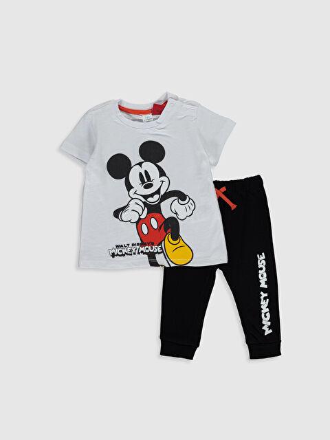 Erkek Bebek Mickey Mouse Baskılı Tişört ve Pantolon - LC WAIKIKI