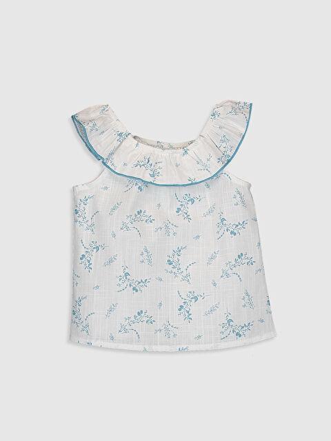Kız Bebek Baskılı Fırfırlı Bluz - LC WAIKIKI
