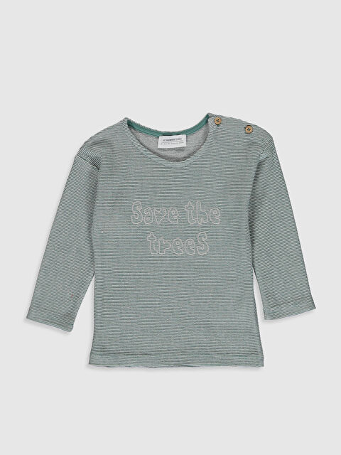 Erkek Bebek Yazı Baskılı Sweatshirt - LC WAIKIKI
