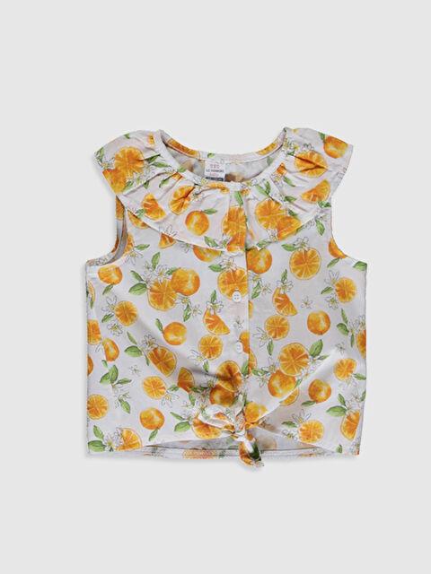 Kız Bebek Desenli Keten Gömlek - LC WAIKIKI