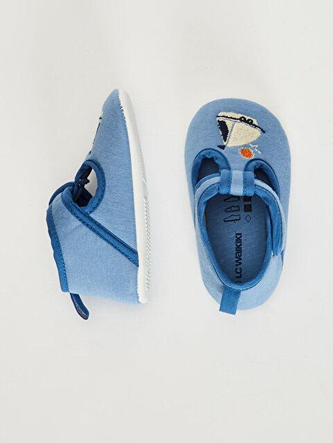 Erkek Bebek Nakış Detaylı Bez Yürüme Öncesi Ayakkabı - LC WAIKIKI