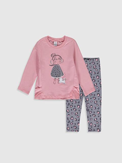 Kız Bebek Desenli Tişört ve Pantolon - LC WAIKIKI