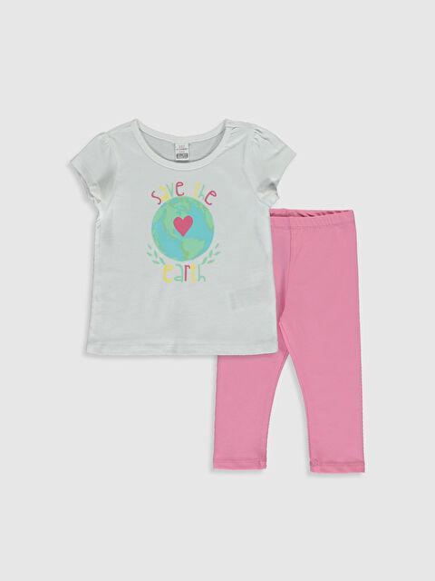 Kız Bebek Baskılı Tişört ve Uzun Tayt - LC WAIKIKI