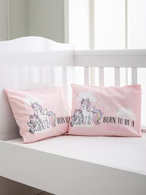 Bebek Unicorn Baskılı Yastık Kılıfı 2'li - LCW HOME