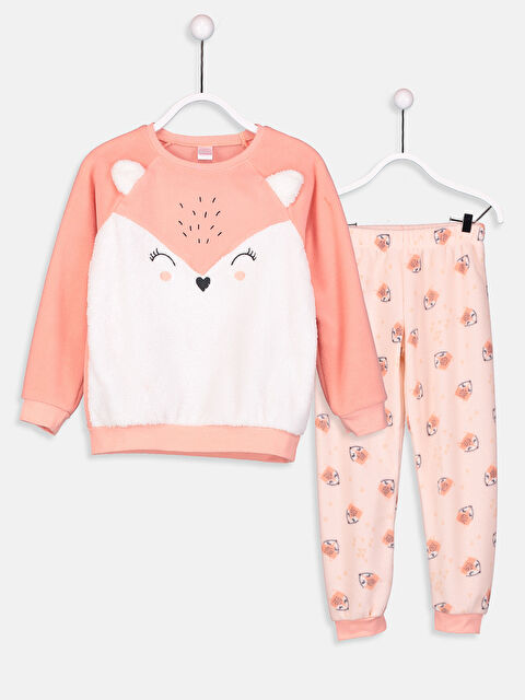 Kız Çocuk Polar Pijama Takımı - LC WAIKIKI