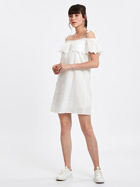 Fisto Detaylı Poplin Elbise - LC WAIKIKI