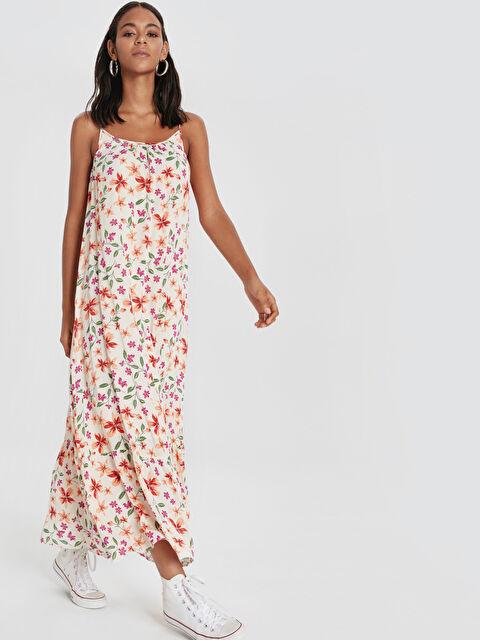 Çiçek Desenli Askılı Salaş Elbise - LC WAIKIKI