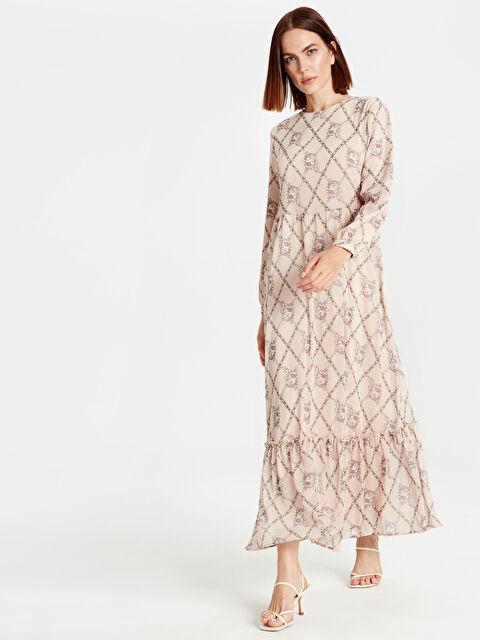 Desenli Şifon Elbise - LC WAIKIKI