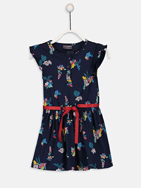 Kız Çocuk Çiçekli Örme Elbise - LC WAIKIKI