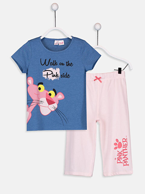 Kız Çocuk Pembe Panter Baskılı Pijama Takımı - LC WAIKIKI