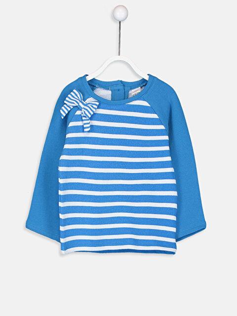 Kız Bebek Çizgili Sweatshirt - LC WAIKIKI