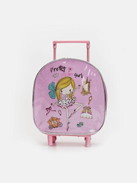 Kız Çocuk Desenli Çekçekli Çanta - LC WAIKIKI