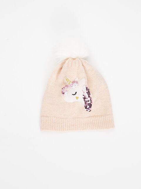 Kız Çocuk Unicorn Desenli Triko Bere - LC WAIKIKI
